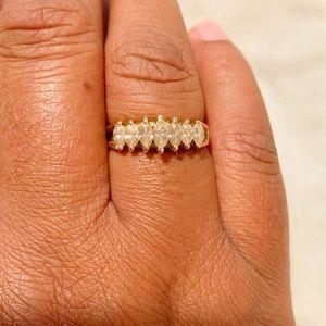 Jewelry - 14k Gold 7 Marquise Diamond Ring